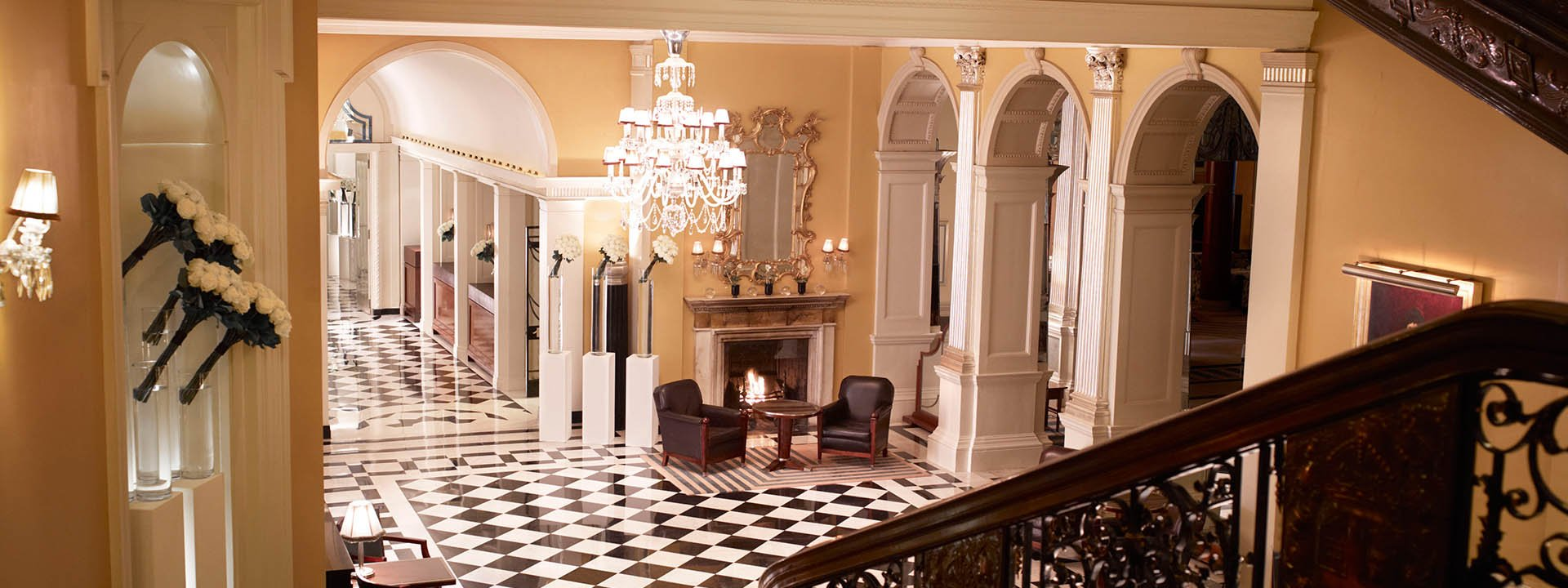 Claridge's reception hall