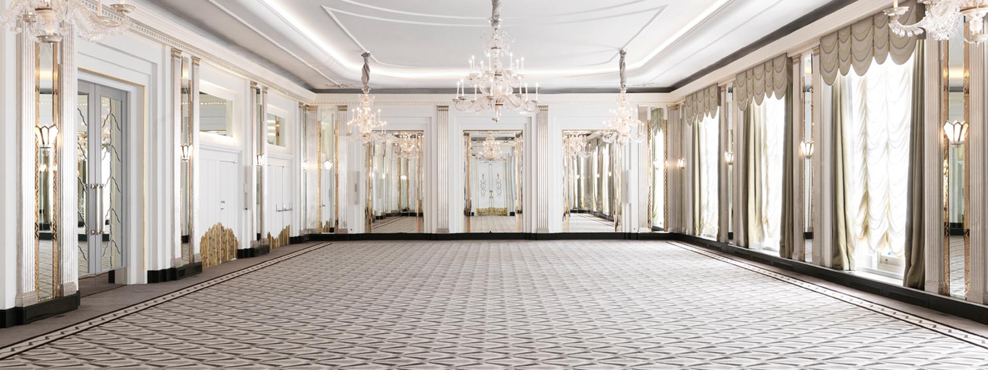 Open plan ballroom at Claridge's