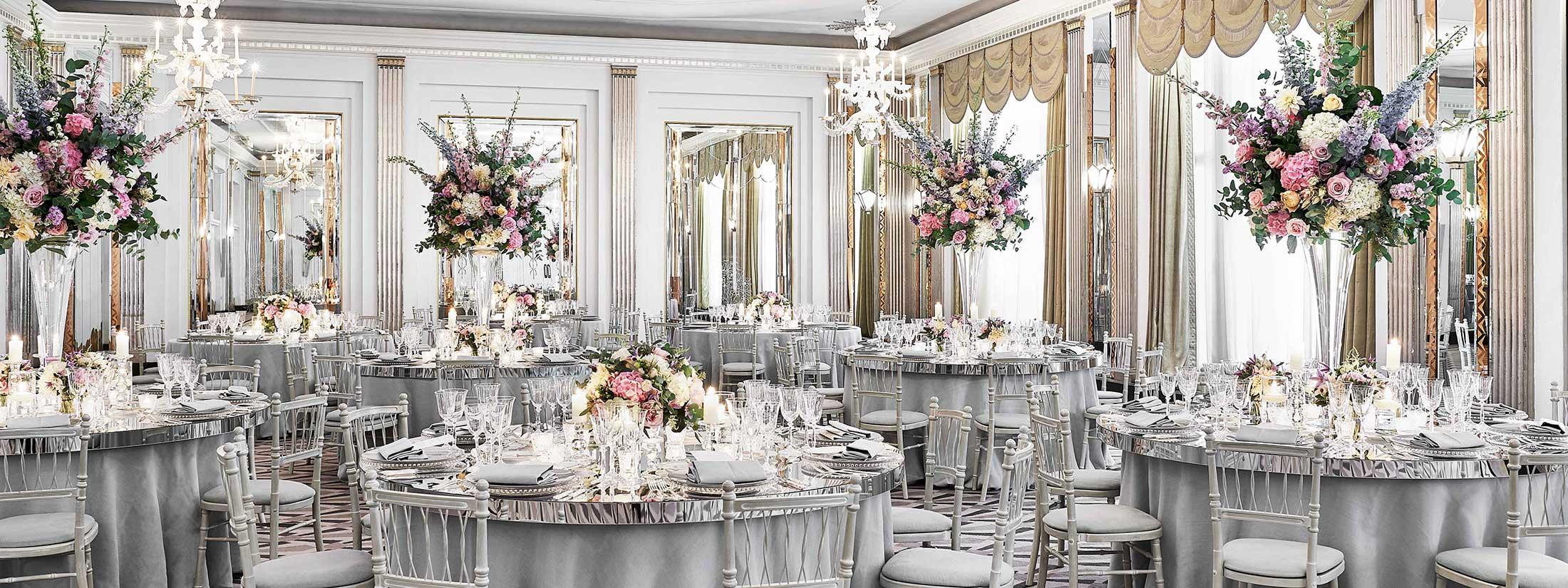 Wedding in the ballroom at Claridge's