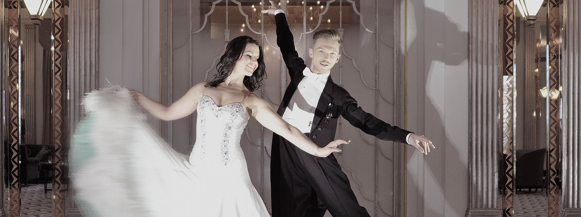 Bride and groom dancing at Claridge's