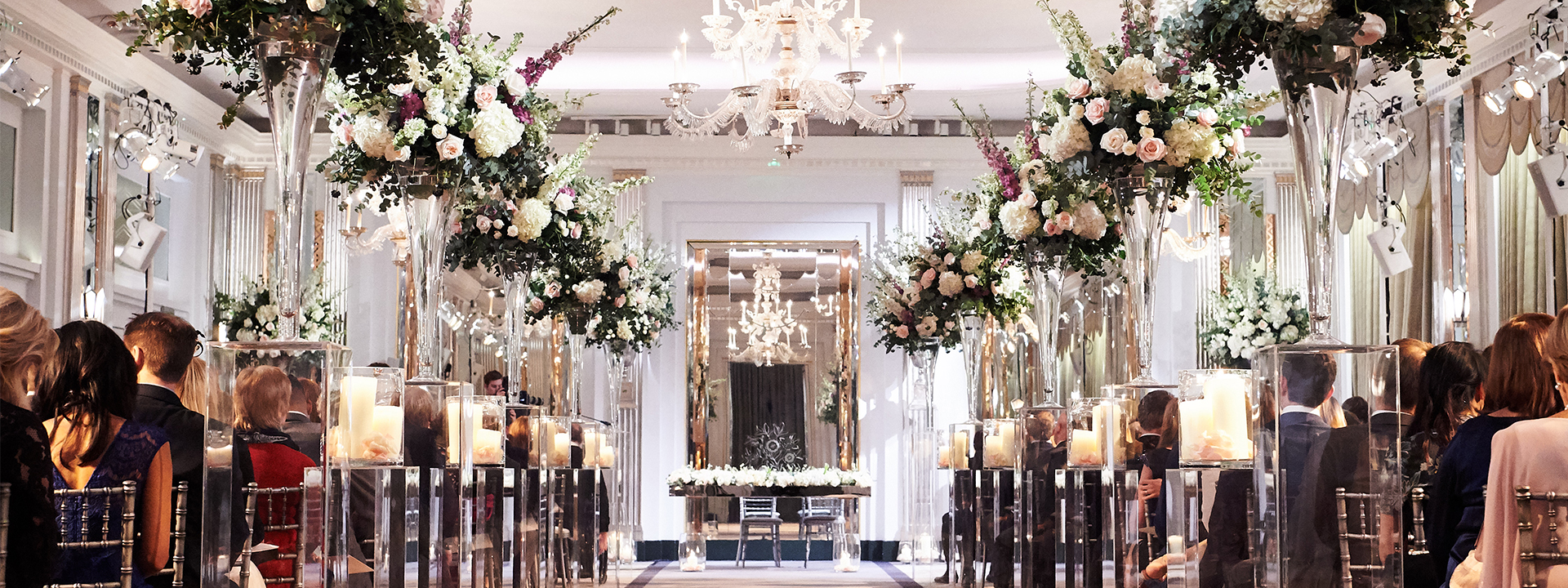 Wedding at the Claridge's event room