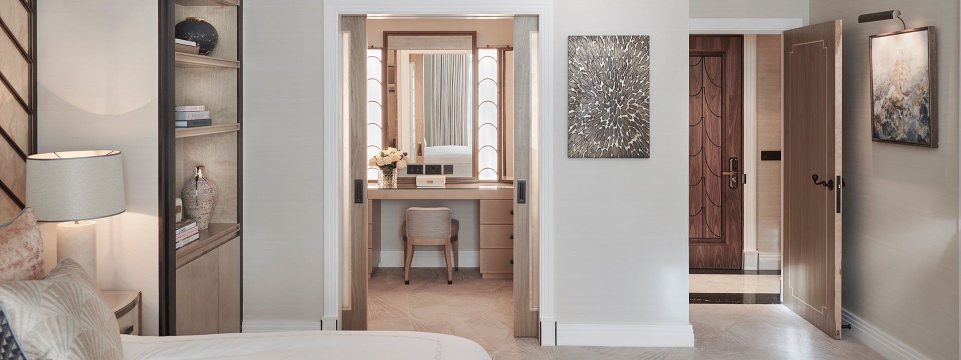 Claridge's Studio walk-in wardrobe